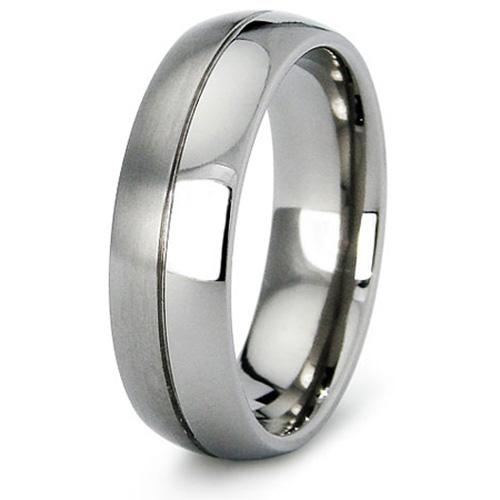 Titanium 7mm Ring with Duo Finish