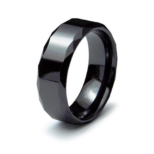 8mm Ceramic Ring with Facet Edges