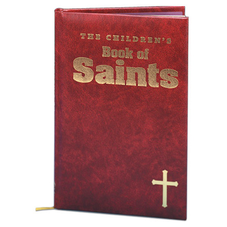 The Children's Book of Saints Burgandy Cover