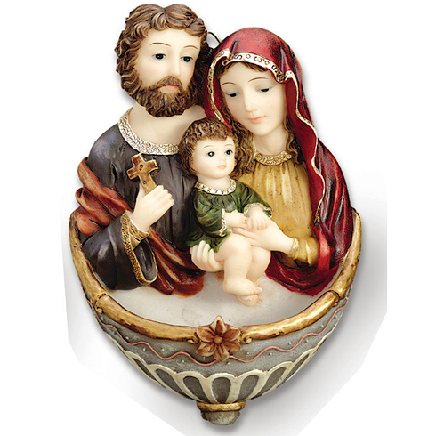 Holy Family 7in Holy Water Fountain