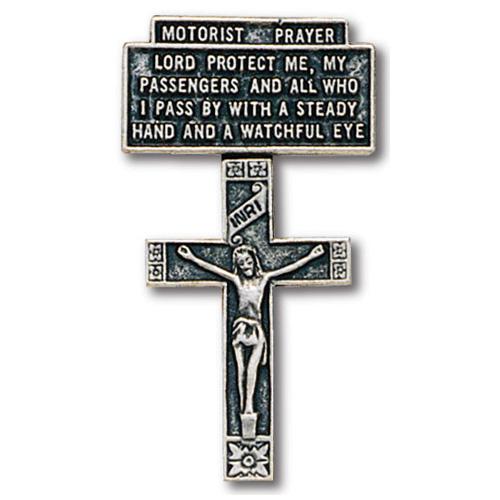 Crucifix Motorist's Prayer Visor Clip Set of Two