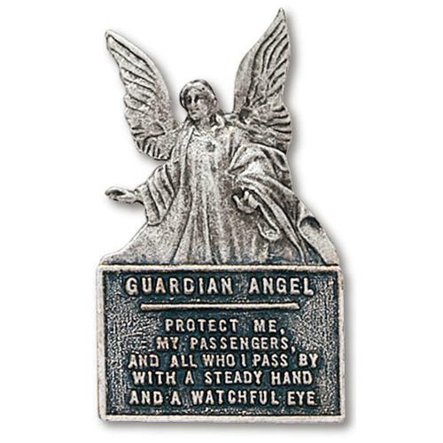 Guardian Angel Prayer Pewter Visor Clip Set of Two