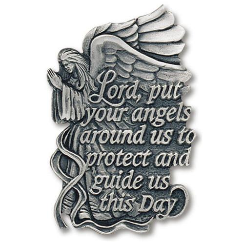 Angel Prayer Pewter Visor Clip Set of Two