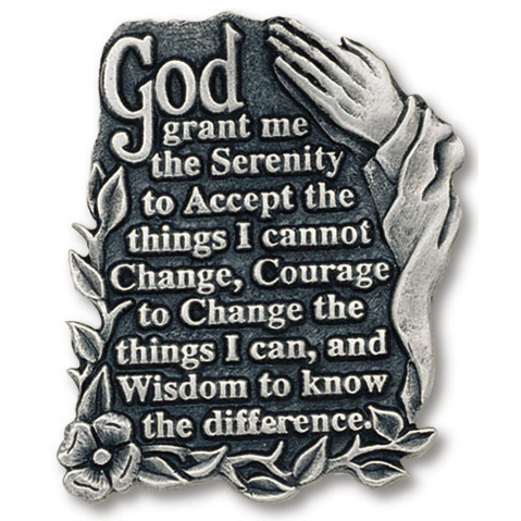 Serenity Prayer Pewter Visor Clip Set of Two