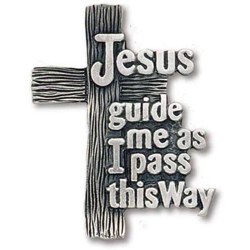Jesus Guide Me Pewter Visor Clip Set of Two