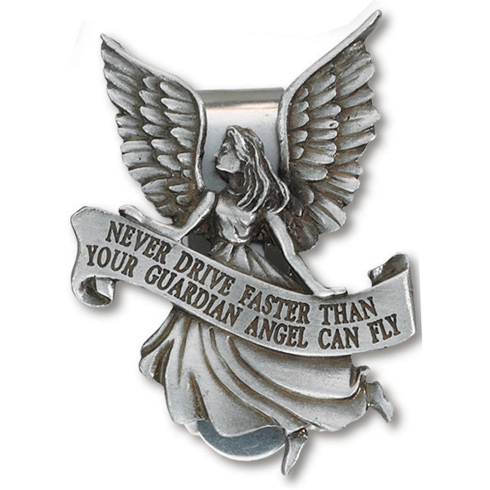 Pewter Guardian Angel Visor Clip Set of Two