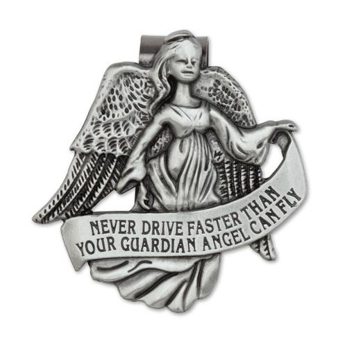 Pewter Guardian Angel Visor Clip Set of Two