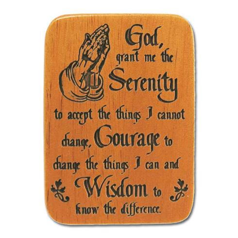 Mahogany Serenity Prayer Visor Clip Set of Two