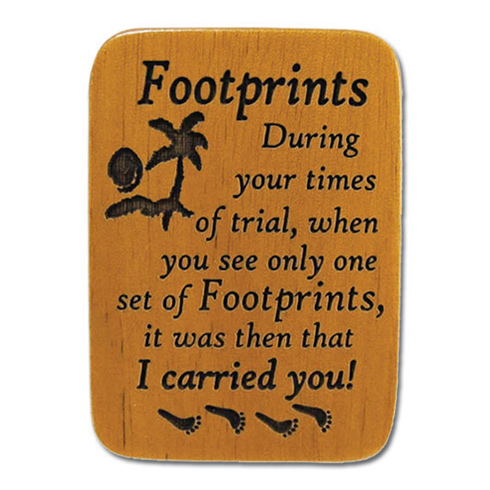 Mahogony Footprints Prayer Visor Clip Set of Two