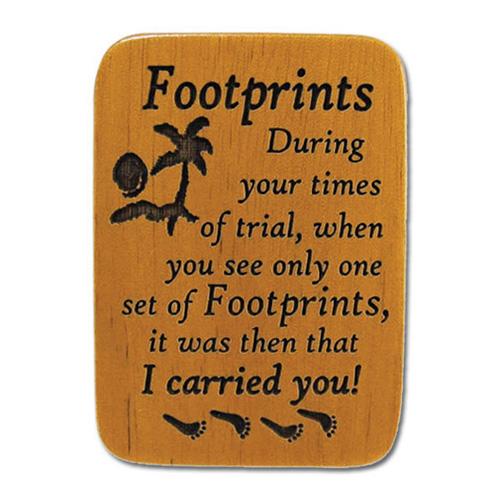 Mahogony Footprints Prayer Visor Clip Set of Two