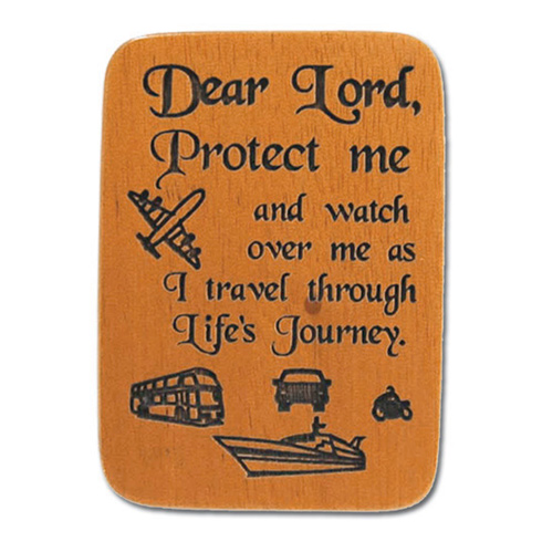 Mahogony Traveler's Prayer Visor Clip Set of Two