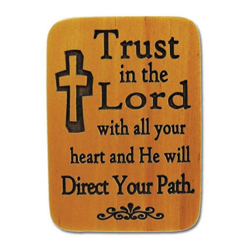 Mahogony Trust Prayer Visor Clip Set of Two