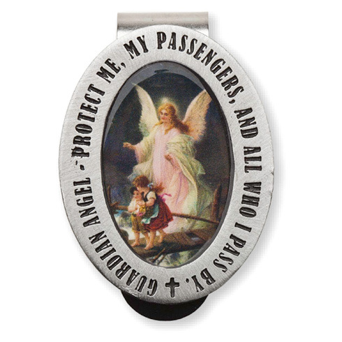 Guardian Angel Enamel Visor Clip Set of Two