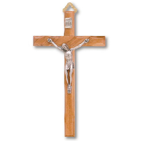 5in Carved Olive Wood Wall Crucifix