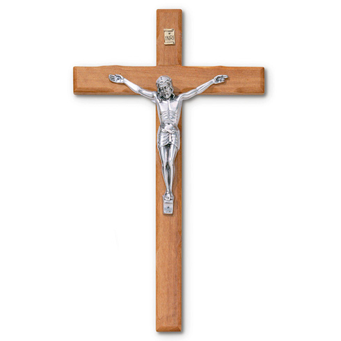 12in Carved Olive Wood Wall Crucifix