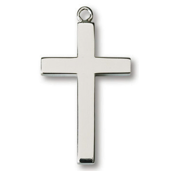 Sterling Silver 1in Latin Cross on 24in Necklace