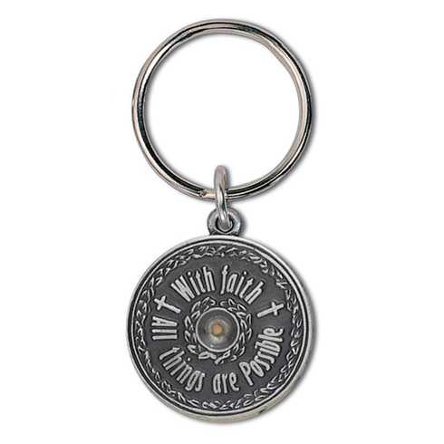 Mustard Seed Pewter Key Ring Two Pack