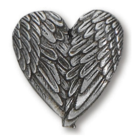 Pewter Angel Wings Lapel Pin Set of Two