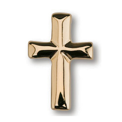 Gold Plated 11/16in Beveled Cross Tie Tac