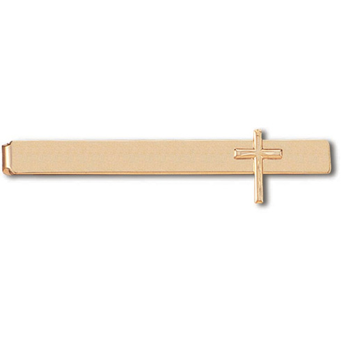 Gold Plated 2 3/8in Wide Cross Tie Bar