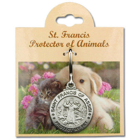 Pewter 1in St. Francis Protect My Pet Medal