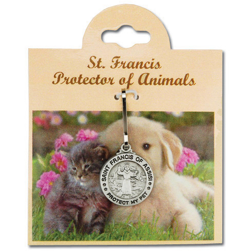 St. Francis Pet Medal 11/16in tall