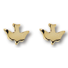14kt Yellow Gold Filled 1/4in Dove Earrings