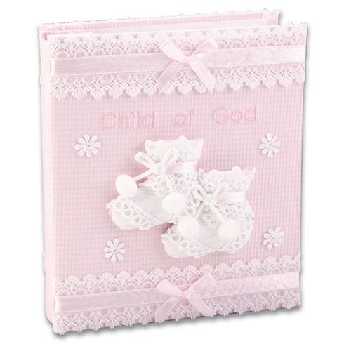 Child Of God Baby Girl Fabric Photo Album N 1558pk Joy Jewelers