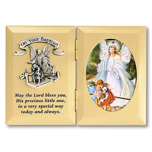 On Your Baptism Angel Picture Frame