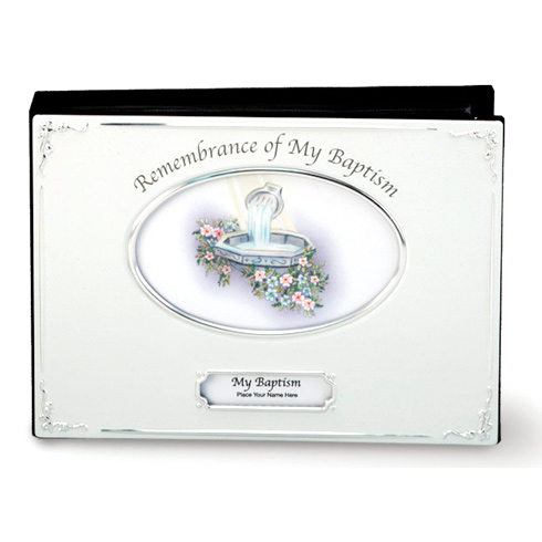 Remembrance of My Baptism Silver Metal Photo Album