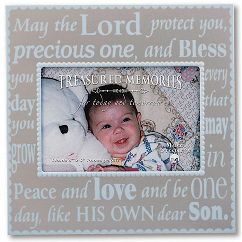 May the Lord protect you Baby Boy Picture Frame