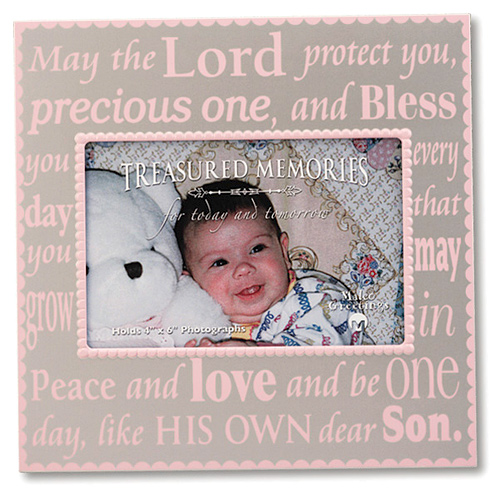 May the Lord protect you Baby Girl Picture Frame