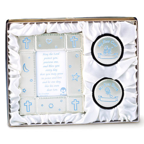 Baby Boy Picture Frame and Keepsake Gift Set