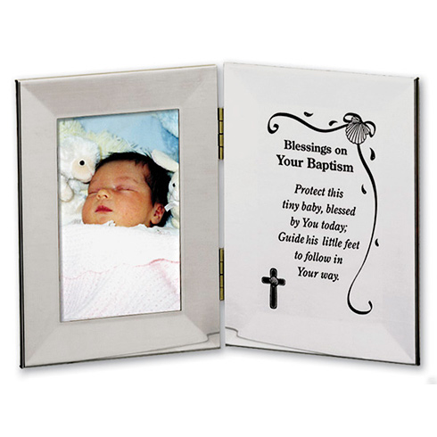 Baby Boy's Blessings on Your Baptism Picture Frame