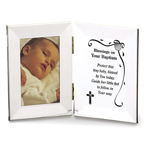Baby Girl's Blessings on Your Baptism Picture Frame