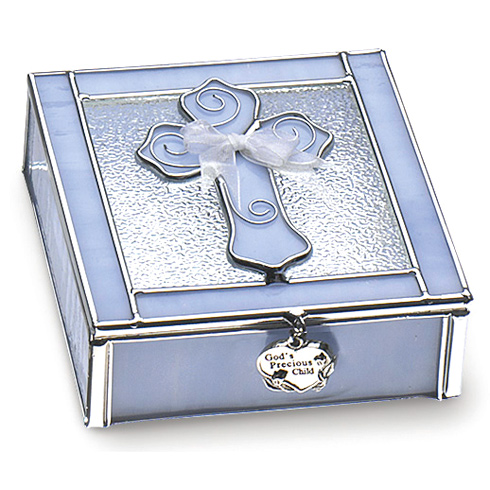 Baby Boy Stained Glass Keepsake Box