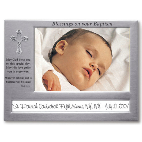 Blessings on Your Baptism Picture Frame
