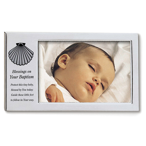 Blessings on Your Baptism Shell Picture Frame