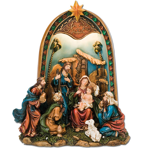 Lighted Nativity Scene 11 1/2in tall