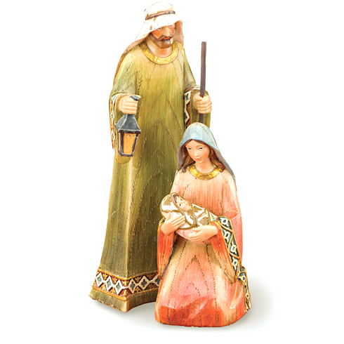 Two Piece Holy Family Nativity 8 1/2in tall