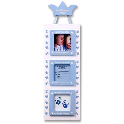 Three Part Baby Boy's Picture Frame