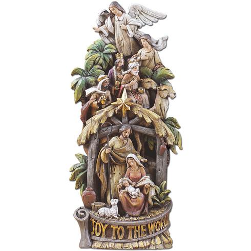 Joy to the World Nativity Scene 16 1/2in tall N-2060
