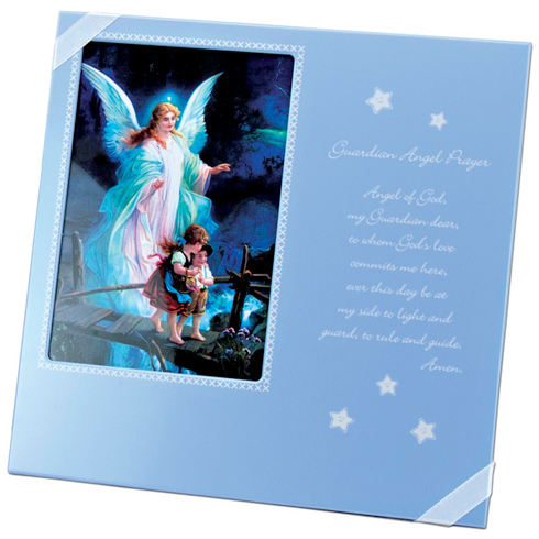 Guardian Angel Prayer Blue Picture Frame for Boys