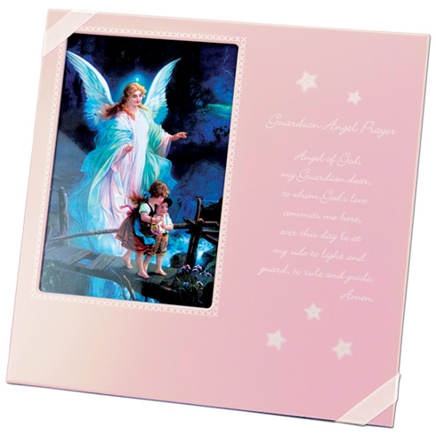 Guardian Angel Prayer Pink Picture Frame for Girls