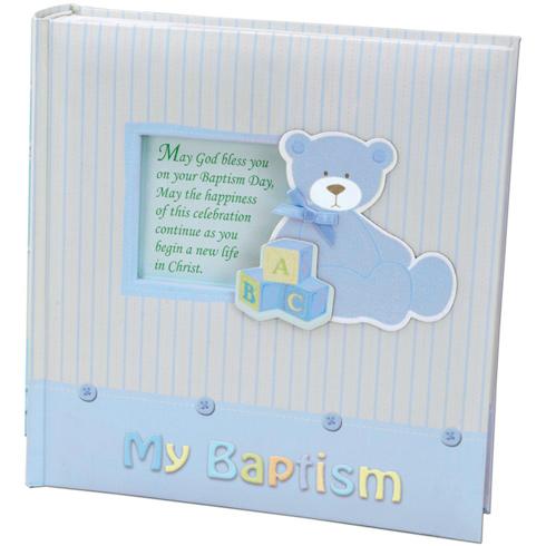 Baby Boy's My Baptism Teddy Bear Photo Album