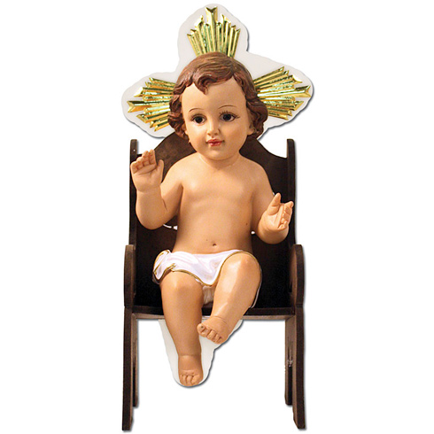 Seated Infant Jesus 12in Tall Resin