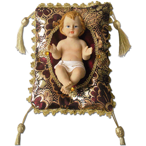 Infant Jesus on Pillow