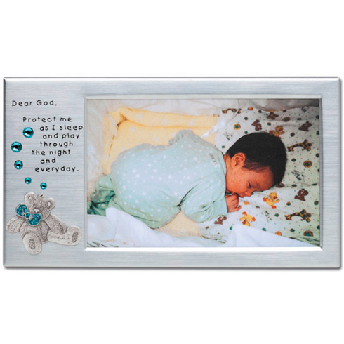 Dear GodÉ Blue Bear Picture Frame