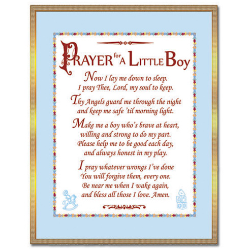 Brass Prayer For A Little Boy Plaque N 2136 1 Joy Jewelers