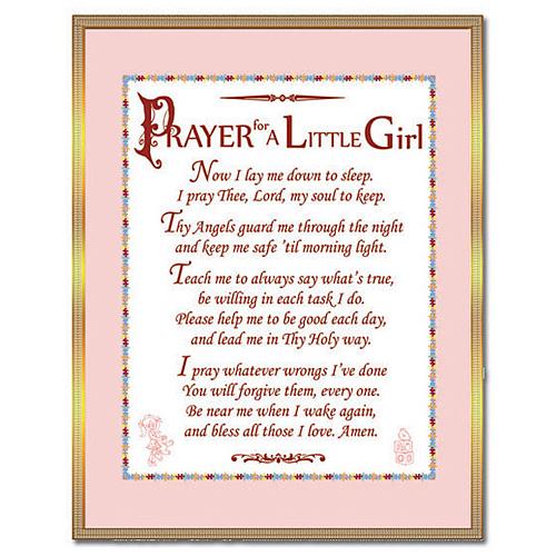 Brass Prayer For A Little Girl Plaque N 2136 2 Joy Jewelers
